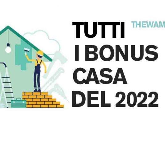 Tutti i bonus casa previsti nel 2022
