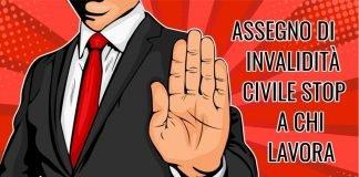 Assegno di invalidità civile, Inps: tolto a chi lavora