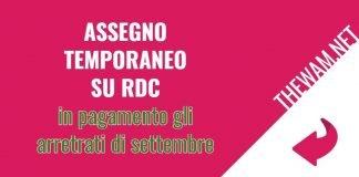 Assegno Unico su Rdc, arretrati di settembre in arrivo