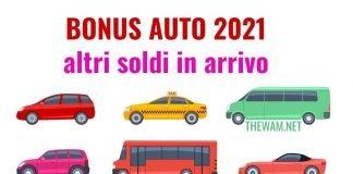 Bonus auto, tutte le agevolazioni del 2021