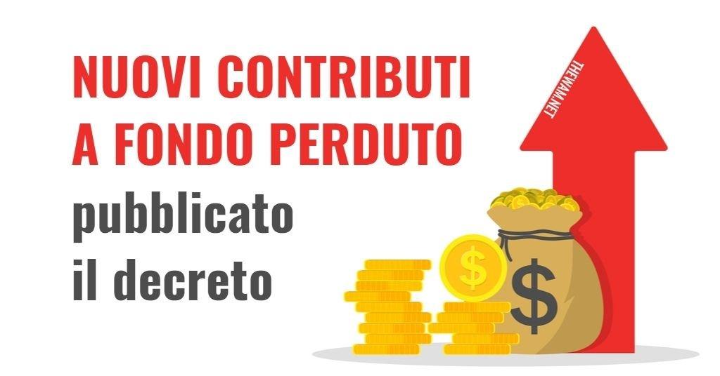 Contributo a Fondo Perduto attività chiuse: si parte
