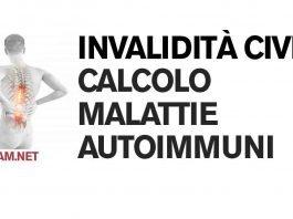 Invalidità civile: calcolo delle malattie autoimmuni