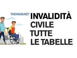 Tutte le tabelle per l'invalidità civile